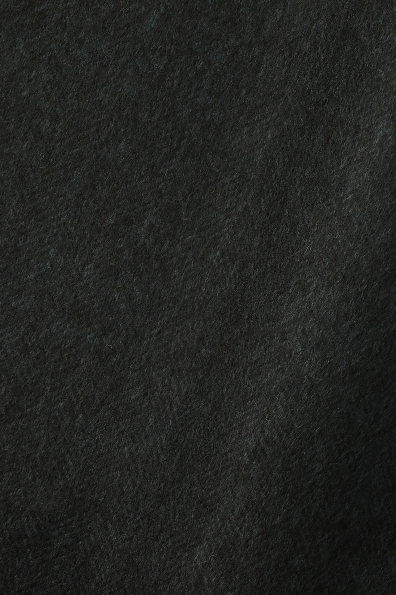 Wool in Herringbone Black Blue by Rose Uniacke_0