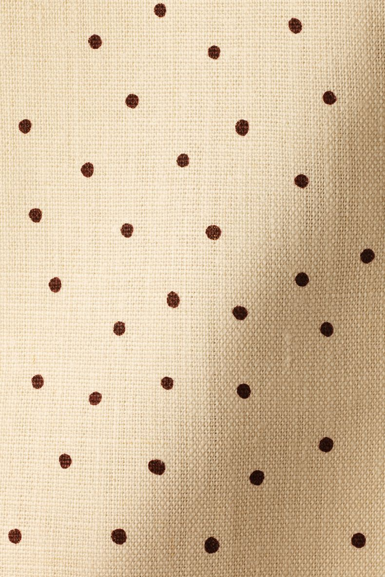 Mid Weight Linen in Burgundy Spot on Milk by Rose Uniacke_0