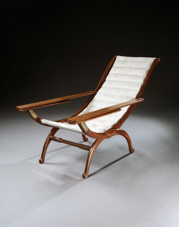 Brass Mounted Rosewood Planters Chair