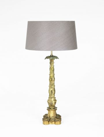 Pair of William IV Gilt Bronze Table Lamps