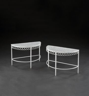 "Pair of ""Half Moon"" Coffee Tables by Mathieu Matégot"