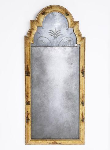 Queen Anne Japanned Pier Mirror