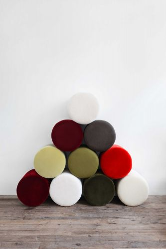 Small Round Ottoman by Rose Uniacke