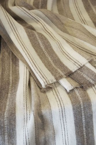 Cream & Oatmeal Clint Shawl by Rose Uniacke