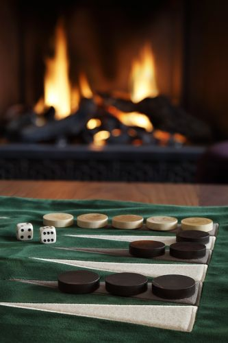 Velvet Backgammon Roll by Rose Uniacke