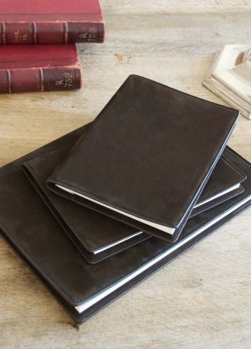 NUBUCK CHOCOLATE NOTEBOOK BY ROSE UNIACKE
