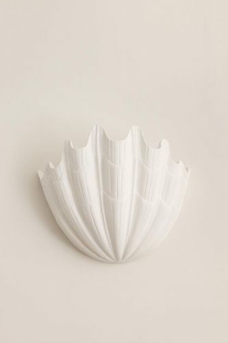 Plaster Shell Uplighter by Rose Uniacke