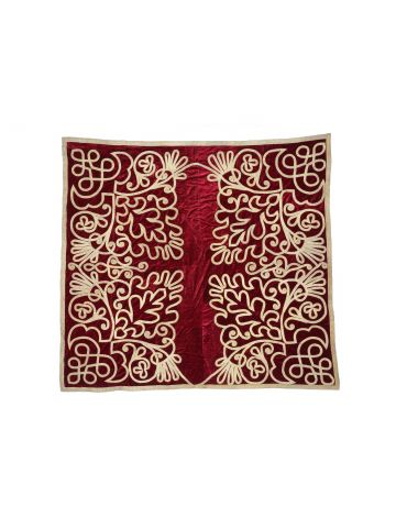 19th Century Scarlet Velvet Wall Hanging