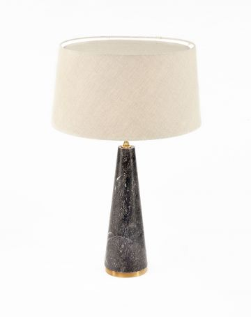 Limited Edition 'Once a Week' Limestone Cone Lamp