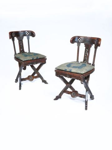 Pair of Side Chairs in the manner of A.W.N. Pugin