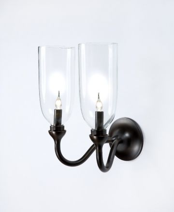 Curved Double Arm Wall Light