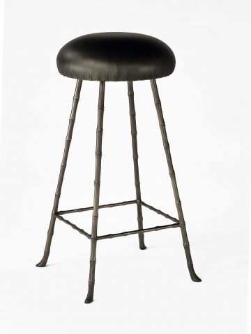 High Upholstered Bar Stool