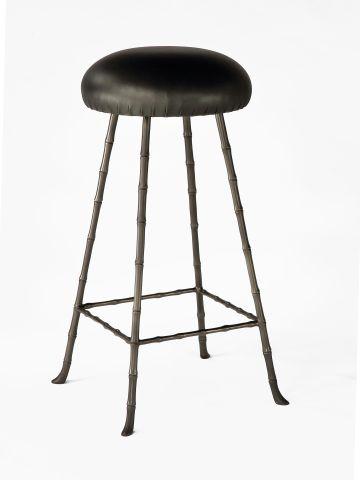 High Upholstered Bar Stool