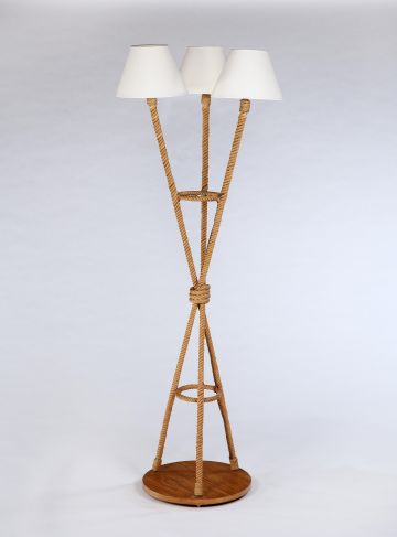 1950's Three-Headed Rope Floor Lamp