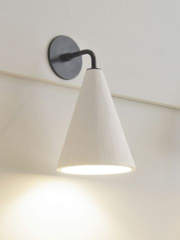 Plaster Cone Wall Light by Rose Uniacke