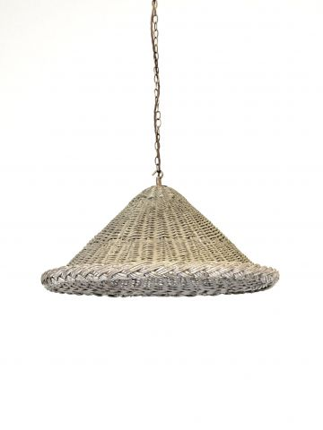 A Wicker Pendant Light