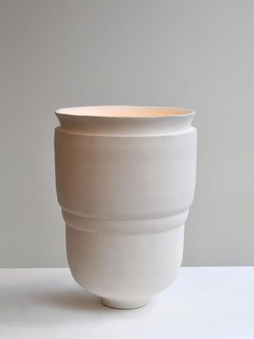Pair of Large Ceramic Uplighters by Isabelle Sicart
