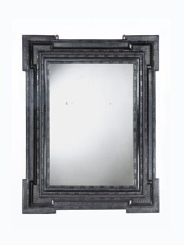 Very Large 19th Century Italian Ripple Frame Mirror