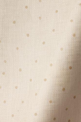 Sheer Linen in Biscuit Spot on Chalk