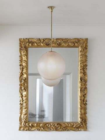 Early 18th Century Oversized Giltwood Mirror Frame