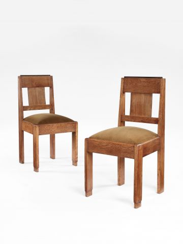 Set of Six Art Deco Dining Chairs by Hendrik Wouda