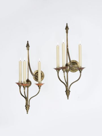 Pair of Wall Candelabra by W.A.S. Benson