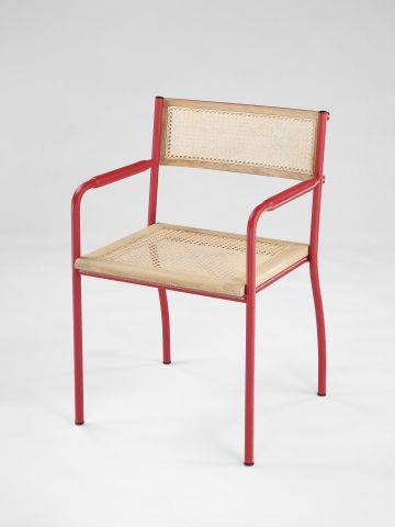 Stitched Armchair in Red by Rose Uniacke