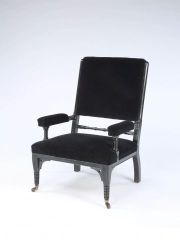 Ebonised Aesthetic Movement Armchair