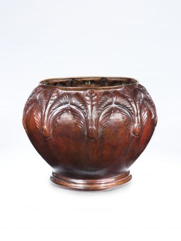 Art Nouveau Copper Cache Pot by Jean Dunand (1877 - 1942)