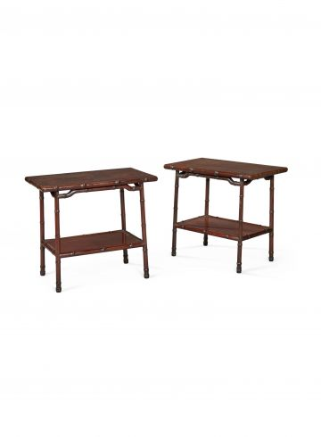 Pair of Chinese Export Side Tables