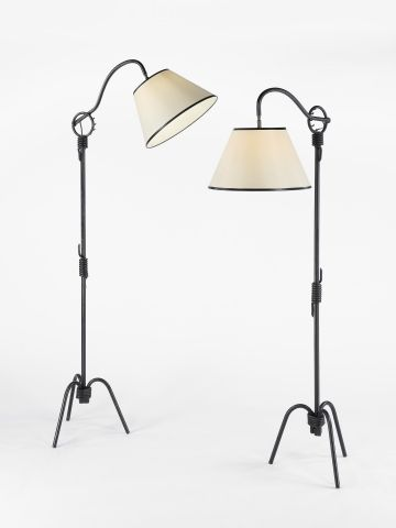 Pair of Mid Century French Floor Lamps