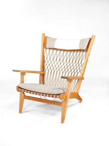 Large 'Web' Lounge Chair by Hans Wegner