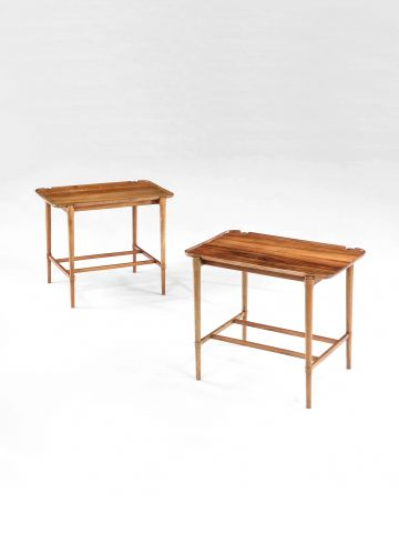 Pair of Mahogany Tray Tables by Peter Hvidt