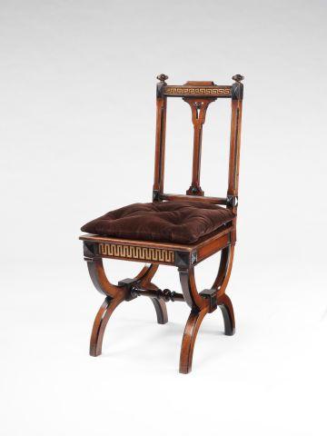 Greek Revival Oak Side Chair