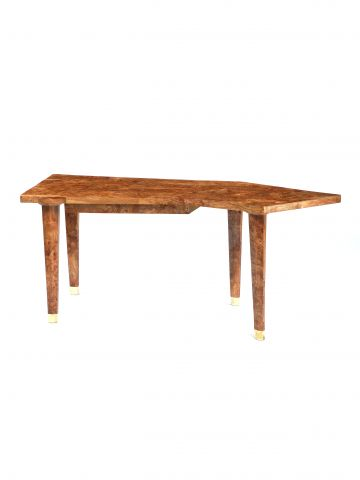 Limited Edition Veneered Writing Desk in Burr Elm