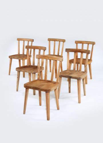 Set of Eight Utö Dining Chairs