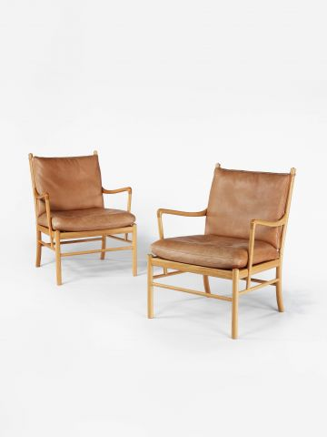 Pair of 'Colonial' Armchairs