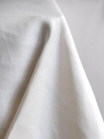 Square Tablecloth in 'Ivory' Double Damask Linen