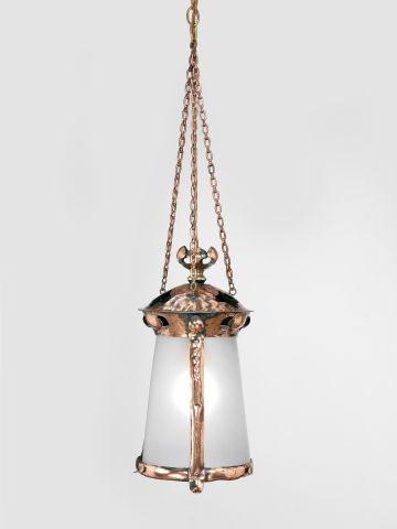 Arts & Crafts Copper Hanging Lantern