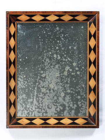 19th Century Parquetry Mirror