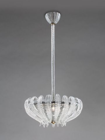 1940's Murano Glass Chandelier by Barovier & Toso