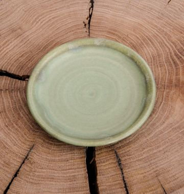 Ceramic Plate in Moss Green