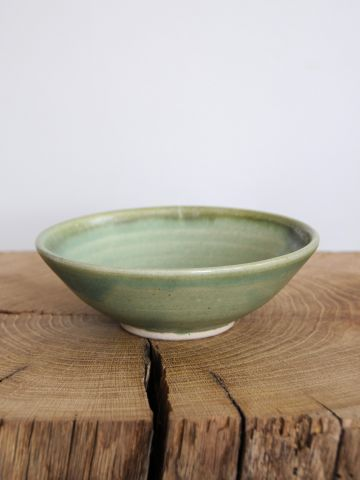Ceramic Bowl in Moss Green