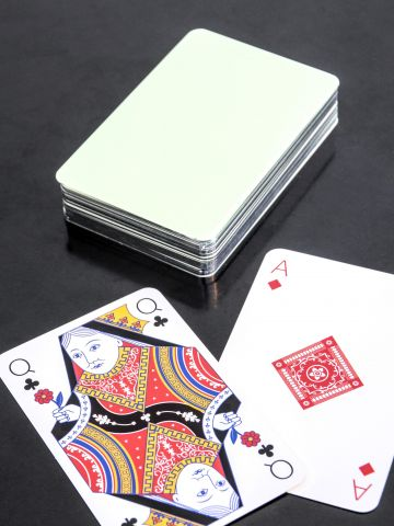 Playing Cards in Eau De Nil