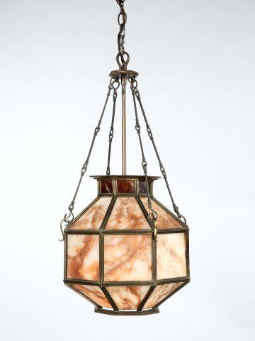 Alabaster & Tortoiseshell Hanging Lantern