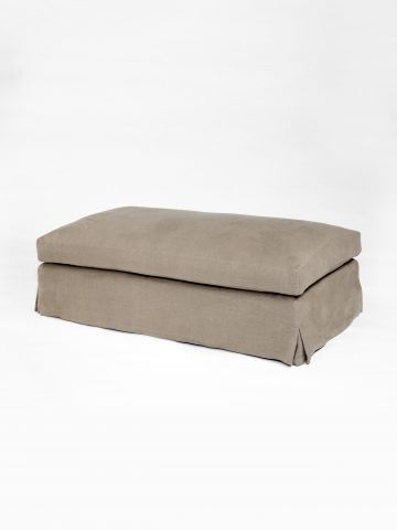 Upholstered Ottoman with Cushion by Rose Uniacke