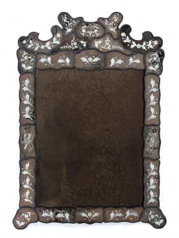 Large Venetian Border Glass Mirror