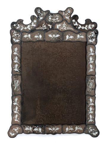 Large Venetian Border Glass Mirror