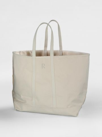Large Beige Canvas Tote by Rose Uniacke
