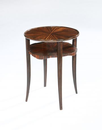 Art Deco Tigerwood Occasional Table
